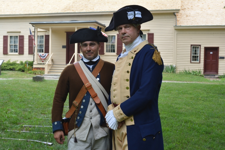 George Washington (R) and Continental Soldier (L) at the Van Wyck Homestead.